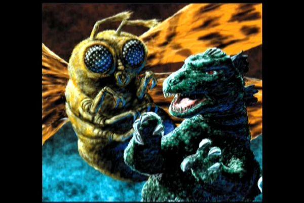 Godzilla Mothra art