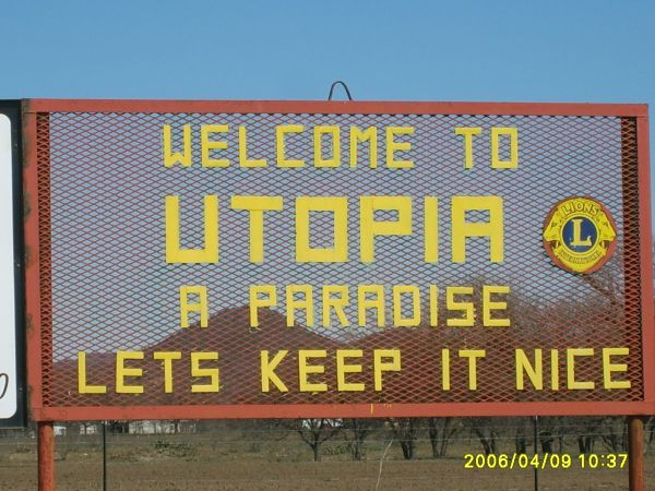 Utopia, Texas, sign