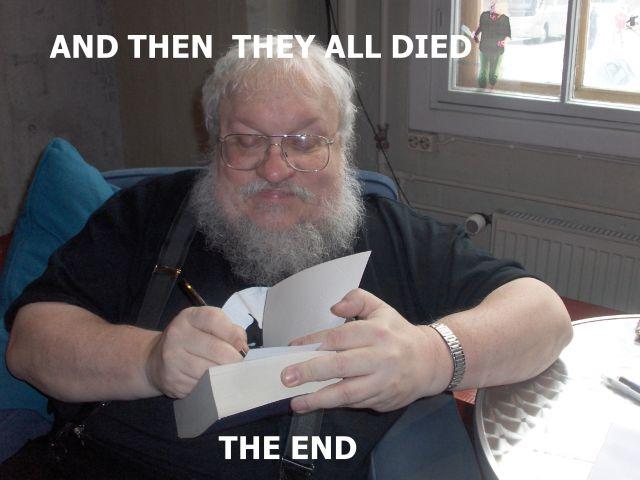 George RR Martin meme